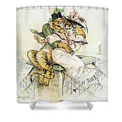 Political Cartoon Shower Curtain by Granger