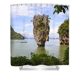 007 Island   2 Shower Curtain by Mark Ashkenazi