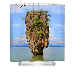 007 Island Shower Curtain by Mark Ashkenazi
