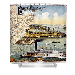 Mississippi Steamboat Shower Curtain by Granger