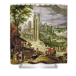 Roman Forum, 16th Century Shower Curtain by Granger