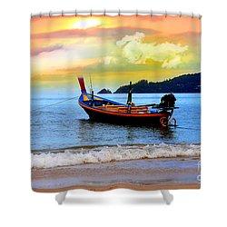 Thailand Shower Curtain by Mark Ashkenazi