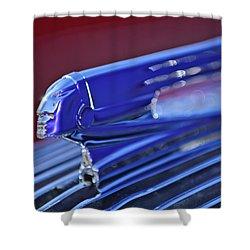 1936 Pontiac Hood Ornament 4 Shower Curtain by Jill Reger