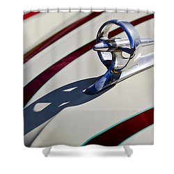 1949 Custom Buick Hood Ornament Shower Curtain by Jill Reger