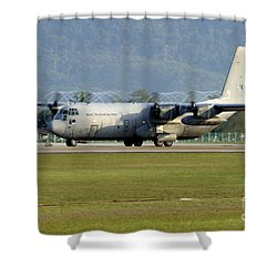 A C-130j Hercules Of The Royal Shower Curtain by Remo Guidi