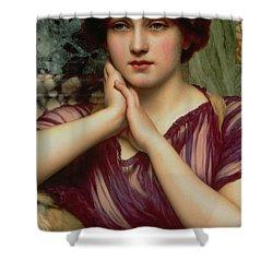 A Classical Beauty Shower Curtain by John William Godward