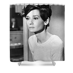 Audrey Hepburn (1929-1993) Shower Curtain by Granger