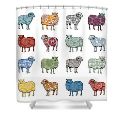 Baa Humbug Shower Curtain by Sarah Hough