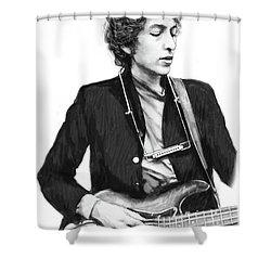 Bob Dylan Drawing Art Poster Shower Curtain by Kim Wang