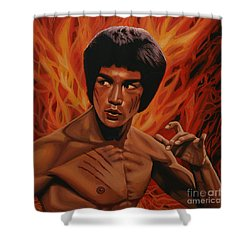 Bruce Lee Enter The Dragon Shower Curtain by Paul Meijering