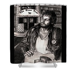 Bruce Springsteen Shower Curtain by Kathleen Kelly Thompson