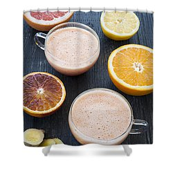 Citrus Smoothies Shower Curtain by Elena Elisseeva