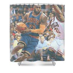 Cleveland Cavaliers Lebron James 2 Shower Curtain by Joe Hamilton