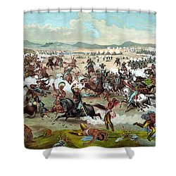 Custer's Last Stand Shower Curtain by War Is Hell Store