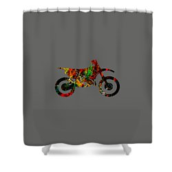 Dirt Bike Collection Shower Curtain by Marvin Blaine