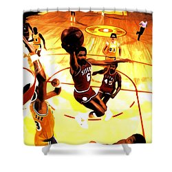 Doctor J Shower Curtain by Brian Reaves