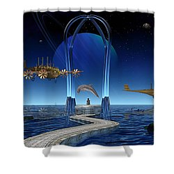 Dolphin Dreams Shower Curtain by Marvin Blaine