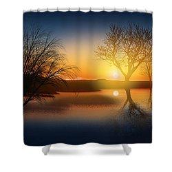 Dramatic Landscape Shower Curtain by Setsiri Silapasuwanchai