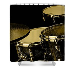 Drums Collection Shower Curtain by Marvin Blaine