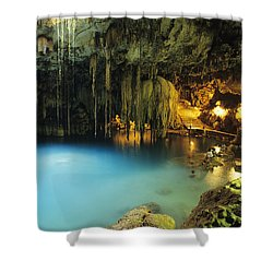 Dzitnup Natural Well Shower Curtain by Bill Schildge - Printscapes
