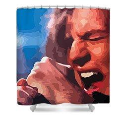 Eddie Vedder Shower Curtain by Gordon Dean II