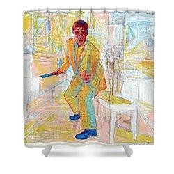 Elton John Shower Curtain by Martin Cohen