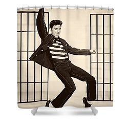 Elvis Presley In Jailhouse Rock 1957 Shower Curtain by Mountain Dreams