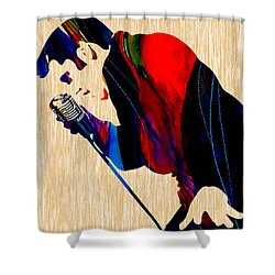 Elvis Presley Shower Curtain by Marvin Blaine
