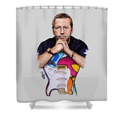 Eric Clapton Shower Curtain by Melanie D