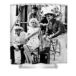 Film: The Misfits, 1961 Shower Curtain by Granger