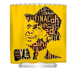 Frank Sinatra I Did It My Way Shower Curtain by Marvin Blaine