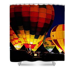 Glowing Shower Curtain by Clayton Bruster