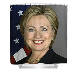 Hillary Clinton Shower Curtain by War Is Hell Store