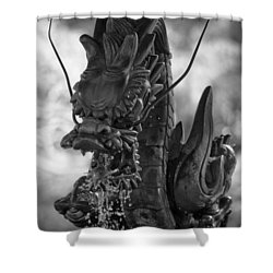 Japanese Water Dragon Shower Curtain by Sebastian Musial