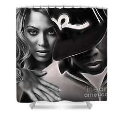 Jay Z Beyonce Collection Shower Curtain by Marvin Blaine