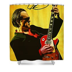 Joe Bonamassa Shower Curtain by Semih Yurdabak