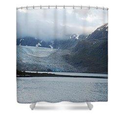 John Hopkins Glacier Shower Curtain by Michael Peychich