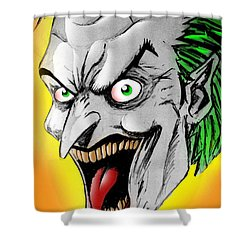 Joker Shower Curtain by Salman Ravish