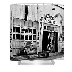 Junk Company Shower Curtain by Scott Pellegrin