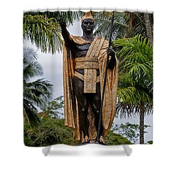 Kamehameha The Great Shower Curtain by Christopher Holmes