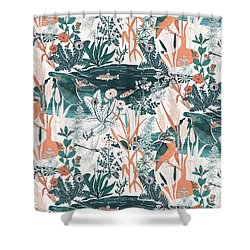 Kingfisher Shower Curtain by Jacqueline Colley
