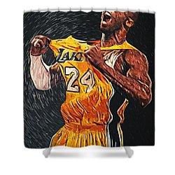 Kobe Bryant Shower Curtain by Taylan Apukovska
