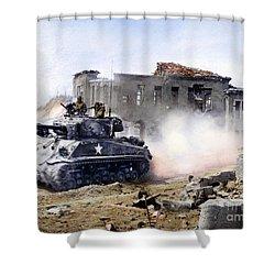 Korean War: Tank, 1951 Shower Curtain by Granger