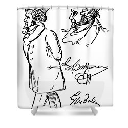 Ludwig Van Beethoven Shower Curtain by Granger