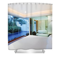 Luxury Bedroom Shower Curtain by Setsiri Silapasuwanchai