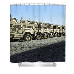 Maxxpro Mine Resistant Ambush Protected Shower Curtain by Stocktrek Images
