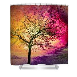 Morning Fire Shower Curtain by Tara Turner