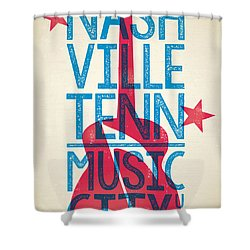 Nashville Tennessee Poster Shower Curtain by Jim Zahniser