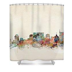 Nashville Tennessee Skyline  Shower Curtain by Bri B