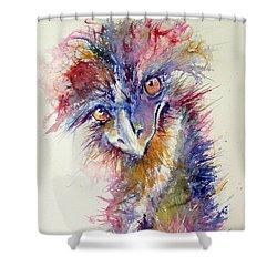 Ostrich Shower Curtain by Kovacs Anna Brigitta